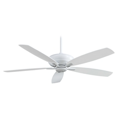 60-Inch Ceiling Fan Without Light in White Finish