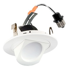 LED Retrofit White Elbow Trim for 4-Inch Recessed Cans 3000L 700 Lumens