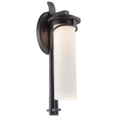 Minka Lighting Holbrook Forged Stone Silver LED Outdoor Wall Light
