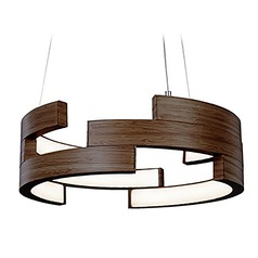 Kuzco Lighting Modern Walnut LED Pendant 3000K 1506LM
