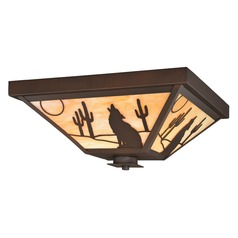 Calexico Burnished Bronze Outdoor Ceiling Light by Vaxcel Lighting
