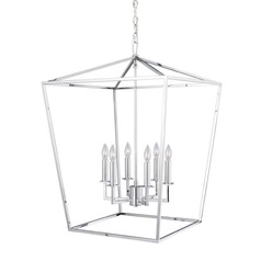 Norwell Lighting Cage Polished Nickel Pendant Light