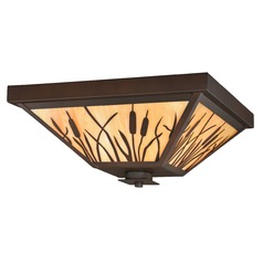 Bulrush Burnished Bronze Outdoor Ceiling Light by Vaxcel Lighting