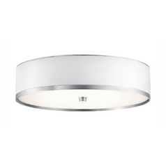 Kichler Flushmount Light with White in Brushed Aluminum Finish