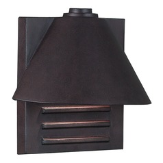 Modern Outdoor Wall Light in Copper Finish
