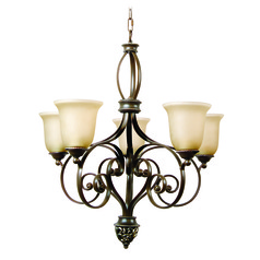 Jeremiah Mia Aged Bronze, Vintage Madera Chandelier