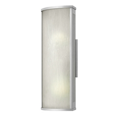 Outdoor Wall Light with White Glass in Titanium Finish
