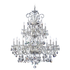 Quorum Lighting Bohemian Katerina Chrome Crystal Chandelier