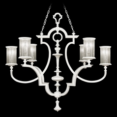 Seeded Glass Chandelier White Fine Art Lamps