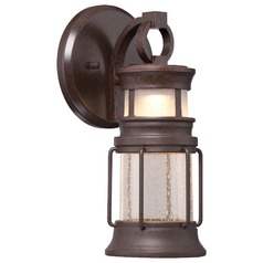 Seeded Glass LED Outdoor Wall Light Bronze Minka Lavery