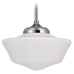 16-Inch Chrome Schoolhouse Pendant Light