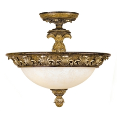 Livex Lighting Savannah Venetian Patina Semi-Flushmount Light
