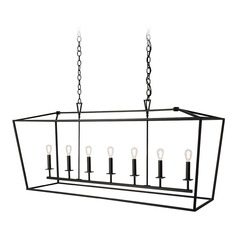 Norwell Lighting Cage Matte Black Island Light