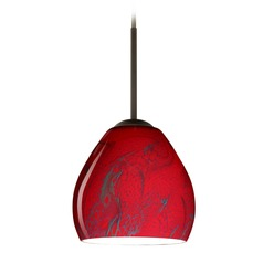 Besa Lighting Bolla Bronze Mini-Pendant Light
