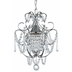 Ashford Classics Crystal Mini-Chandelier Pendant Light in Chrome Finish 2233-26
