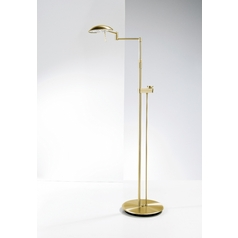 Holtkoetter Modern LED Floor Lamp in Brushed Brass Finish
