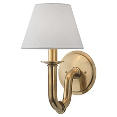 Dundee 1 Light Sconce - Aged Brass