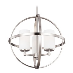 Sea Gull Lighting Alturas 3-Light Mini Chandelier in Brushed Nickel