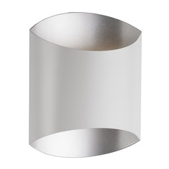 Modern White and Silver LED Sconce 3000K 103LM