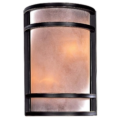Wall Sconce with Two Lights in Bronze Finish