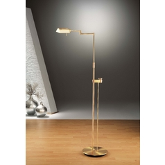 Holtkoetter Modern Floor Lamp in Brushed Brass Finish