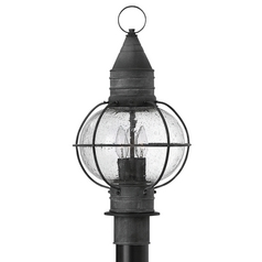 Hinkley Lighting Cape Cod Aged Zinc Post Light