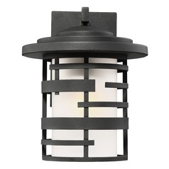 Nuvo Lighting Lansing Textured Black Outdoor Wall Light