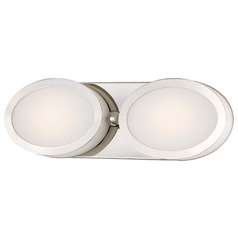 Minka Pearl Bath Polished Nickel LED Bathroom Light