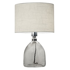 Adesso Home Sparrow Chrome Table Lamp with Drum Shade
