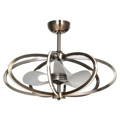 Maxim Lighting Fandelier Polished Chrome LED Ceiling Fan with Light