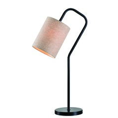 Flamingo Bronze Table Lamp with Cylindrical Shade by Kenroy Home