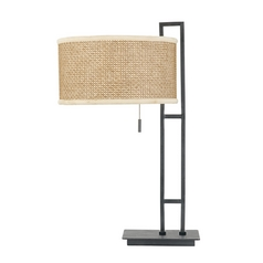 Quoizel Lighting Table Lamp with Rattan Shade ZE6126K