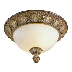 Livex Lighting Savannah Venetian Patina Flushmount Light