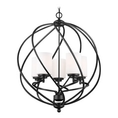 Sea Gull Goliad Blacksmith Pendant Light with Cylindrical Shade