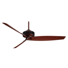Modern Ceiling Fan Without Light in Black / Rosewood Finish