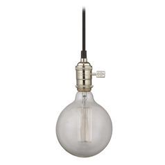 Design Classics Lighting Brushed Nickel Mini-Pendant Light with Vintage Globe Bulb - 60-Watts CA1-15 60G40 FILAMENT