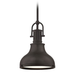 Industrial Metal Pendant Light Bronze8.63-Inch Wide