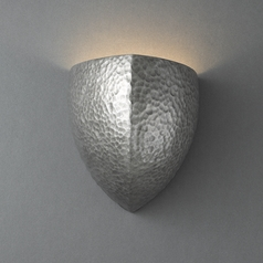 Sconce Wall Light in Hammered Pewter Finish