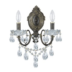 Crystorama Lighting Legacy English Bronze Sconce