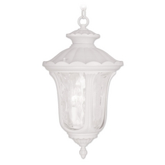 Livex Lighting Oxford White Outdoor Hanging Light