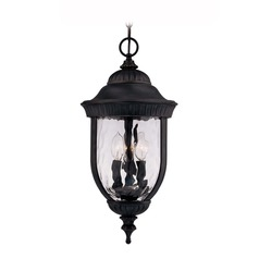 Savoy House Black W/ Gold Outdoor Hanging Light