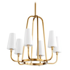 Quorum Lighting Highline Aged Brass Chandelier