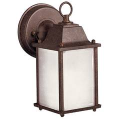 Kichler Outdoor Wall Light with White Glass in Tannery Bronze Finish
