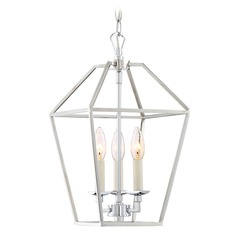 Quoizel Lighting Aviary Polished Nickel Mini-Pendant Light with Square Shade