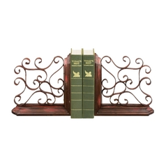 Sterling Lighting Decorative Scroll Bookends 51-0576