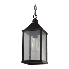 Seeded Glass Mini-Pendant Light Oil Rubbed Bronze Feiss Lighting
