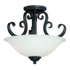 Belleville Oil Rubbed Bronze Semi-Flushmount Light by Vaxcel Lighting