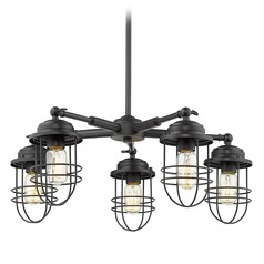 Golden Lighting Seaport Black Chandelier