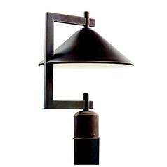 Marvelous Kichler Post Light In Olde Bronze Finish
