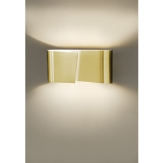 Holtkoetter Modern Sconce Wall Light in Brushed Brass Finish